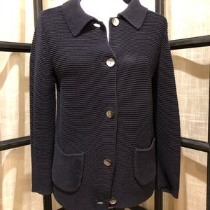 Ann Taylor navy cardigan sweater size S